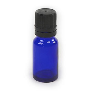 1/3 oz Blue Cobalt Bottle with Insert & Lid