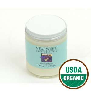 Coconut Oil, Organic (Virgin) (8 oz)